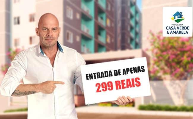 Casa Verde e Amarela Blumenau entrada de 299 reais